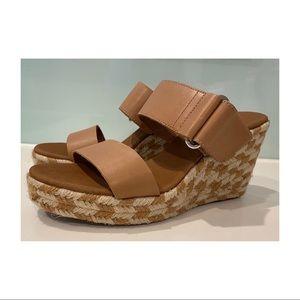 Wittner Velina Tan Leather Espadrille sandal wedge